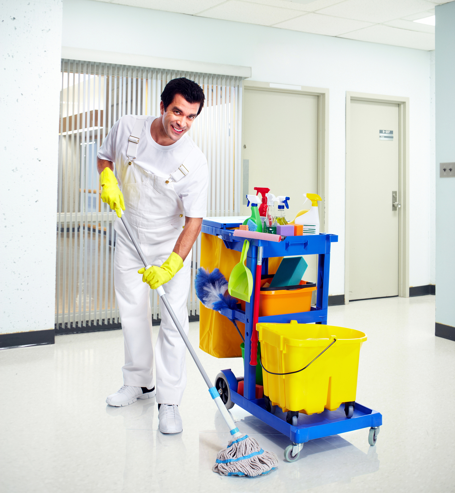 Young-professional-cleaner-washing-the-floor